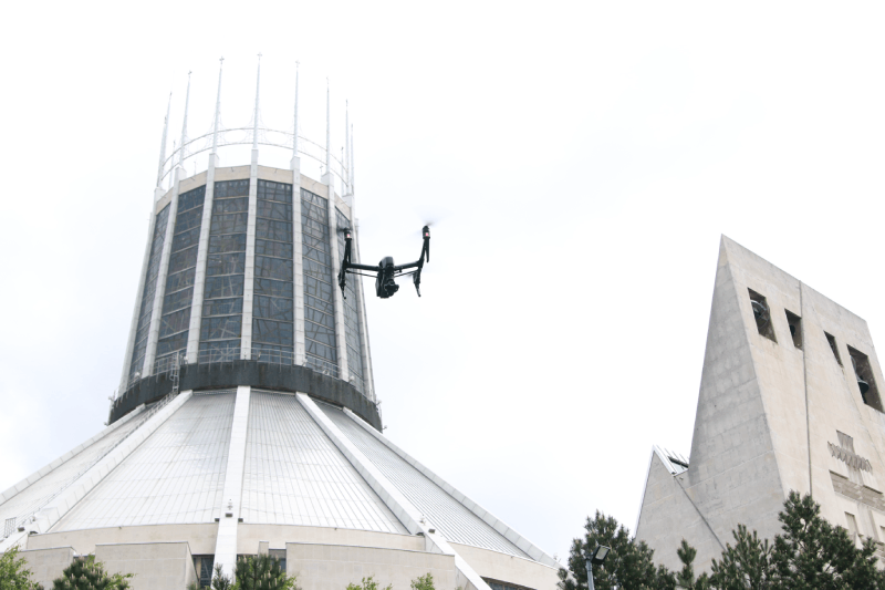 ConVRts Aerial Drone Image Cathedral